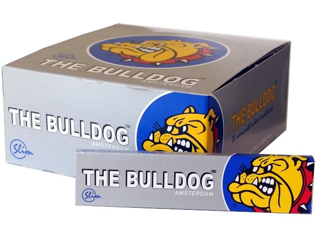 3104 - Κουτί με 50 Χαρτάκια στριφτού THE BULLDOG KING SIZE SILVER Slim Hemp