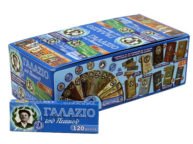 Κουτί με 34 χαρτάκια στριφτού του παππού γαλάζιo 1+1 δώρο 47565