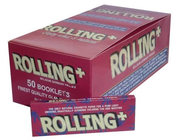 1596 - Κουτί με 50 Rolling Hemp χαρτάκια Στριφτού Τσιγάρου Κόκκινο 47500