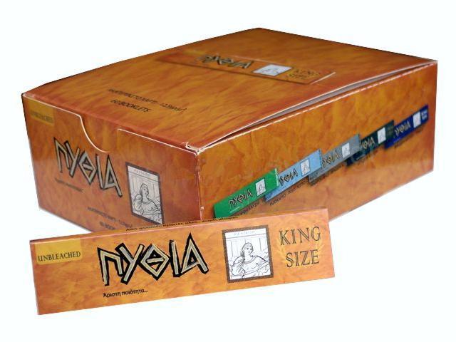 Κουτί με 60 χαρτάκια στριφτού Πυθία ακατέργαστο King Size