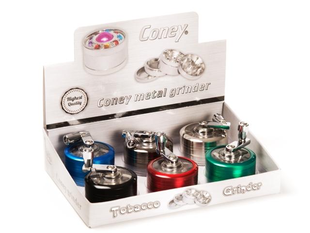 Κουτί με 6 τρίφτες καπνού CONEY Mill Grinder 0212434 52mm