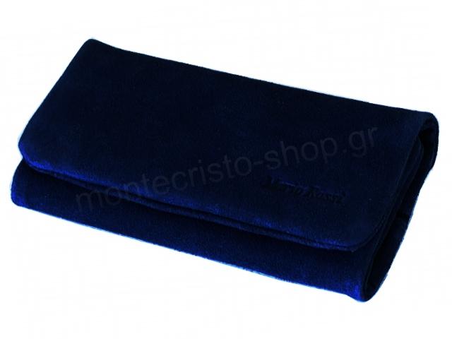8127 - MARIO ROSSI 2681-08 NAVY BLUE δερμάτινη καπνοθήκη σουέτ