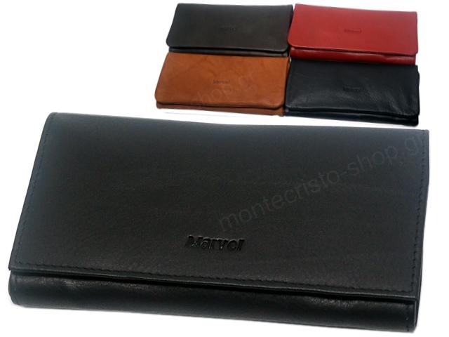 8049 - MARVEL 1195 (μαύρο καφέ κόκκινο ταμπά) δερμάτινη καπνοθήκη