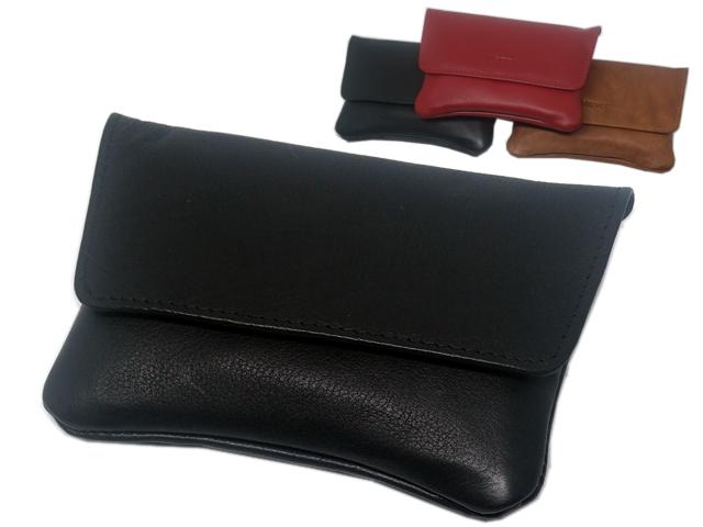 8006 - MARVEL 5518 (μαύρο ταμπά κόκκινο) δερμάτινη καπνοθήκη