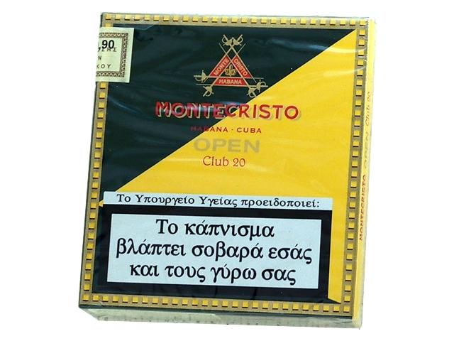 4396 - Cigarillos Montecristo open Club 20