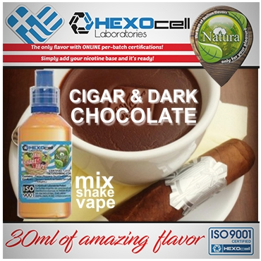 NATURA MIX SHAKE VAPE CIGAR & DARK CHOCOLATE 30/60ML (καπνικό & μαύρη σοκολάτα)