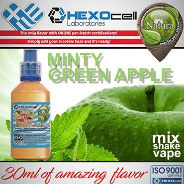 NATURA MIX SHAKE VAPE MINTY GREEN APPLE 30/60ML (πράσινο μήλο και μέντα)