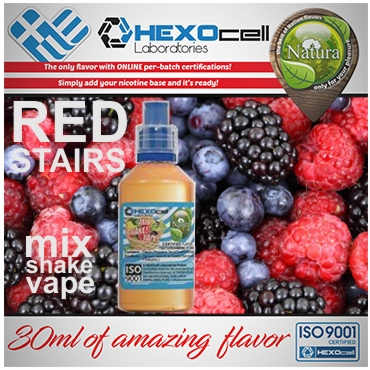 NATURA MIX SHAKE VAPE RED STAIRS 30/60ML (διάφορα βατόμουρα)