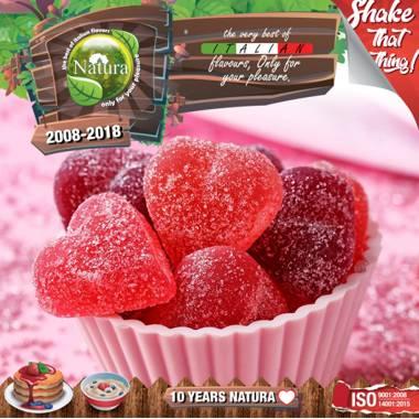 9642 - NATURA SHAKE AND TASTE CANDY BERRIES MIX 60/100ml (γλυκά βατόμουρα)
