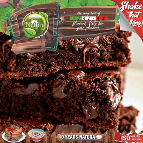 9961 - NATURA SHAKE AND TASTE CHOCOLATE BROWNIES 60/100ml (σοκολάτα μπισκότο)