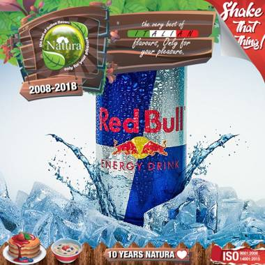 9641 - NATURA SHAKE AND TASTE ENERGY DRINK BULL 60/100ml (ενεργειακό ποτό)