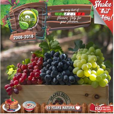 9645 - NATURA SHAKE AND TASTE FOREST GRAPEZ 60/100ml (φρούτα του δάσους και σταφύλι)