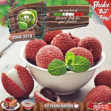 9647 - NATURA SHAKE AND TASTE FOREST LYCHEEZ 60/100ml (φρούτα του δάσους και εξωτικό φρούτο λίτσι)