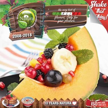 9650 - NATURA SHAKE AND TASTE HONEYDEW BERRIEZ 60/100ml (πεπόνι, βατόμουρα και μπανάνα)