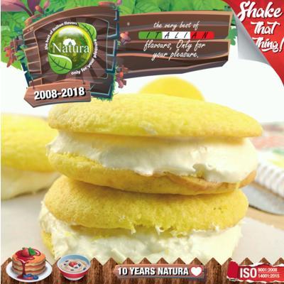 9359 - NATURA SHAKE AND TASTE LEMON BISCOTTO 100ml (λεμόνι και μπισκότο)