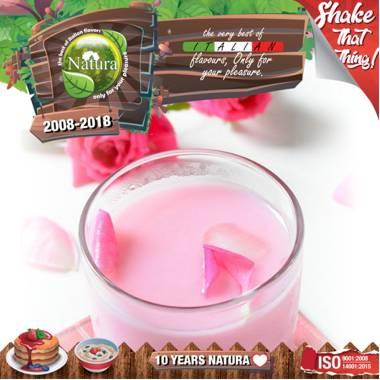 9653 - NATURA SHAKE AND TASTE MILK N ROSES 60/100ml (γάλα και τριαντάφυλλο)