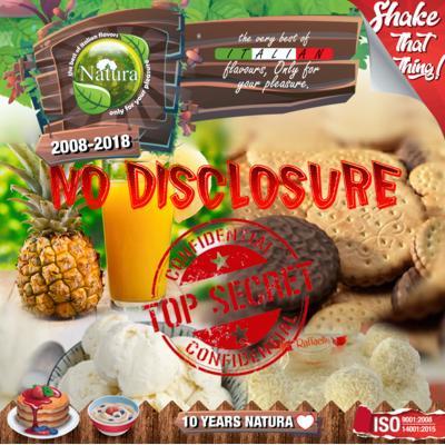 9256 - NATURA SHAKE AND TASTE NO DISCLOSURE 100ml (μπισκότο μπανάνα ανανάς)