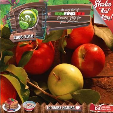 9654 - NATURA SHAKE AND TASTE OH THEM APPLEZ 60/100ml (κόκκινο και πράσινο μήλο)