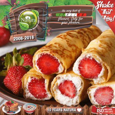 9518 - NATURA SHAKE AND TASTE PROJECT BLOCKCHAIN 100ml (κρέπες με φράουλα και παγωτό βανίλια)