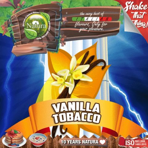 9965 - NATURA SHAKE AND TASTE TOBACCO VANILLA 60/100ml (καπνικό με βανίλια)