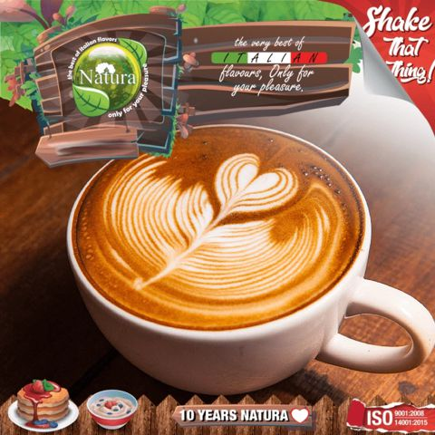 9968 - NATURA SHAKE AND TASTE TOBACO COFFEE LATTE 60/100ml (καπνικό με καφέ)
