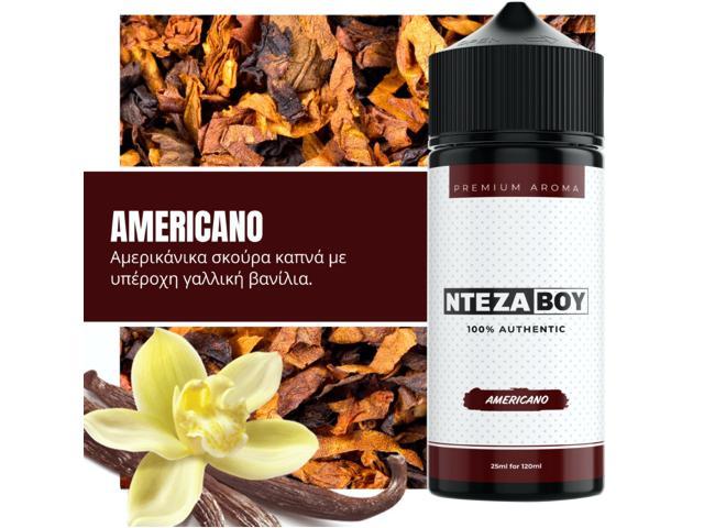 ΝΤΕΖΑΒΟΥ 100% AUTHENTIC Flavour Shot AMERICANO 25ml / 120ml (καπνικό με βανίλια)