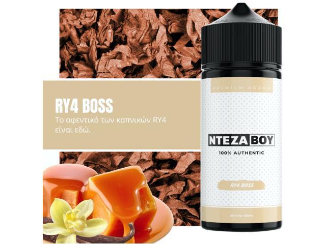 11291 - ΝΤΕΖΑΒΟΥ 100% AUTHENTIC Flavour Shot RY4 BOSS 25ml / 120ml (καπνικό με καραμέλα και βανίλια)