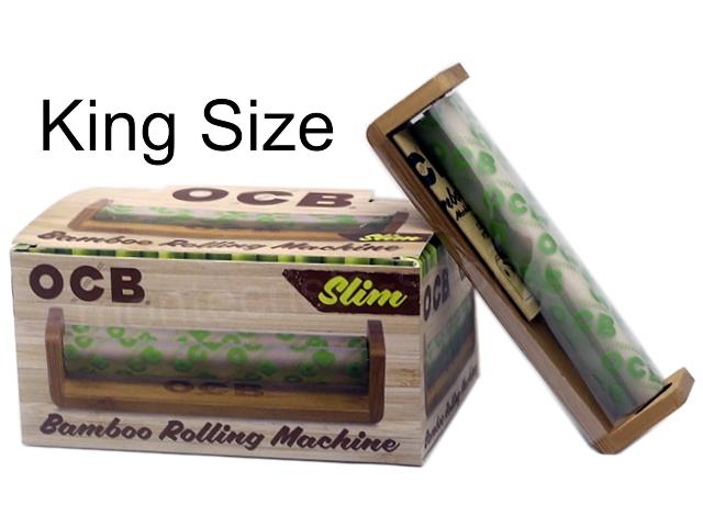9000 - OCB BAMBOO KING SIZE SLIM ROLLING MACHINE (κουτί των 6)