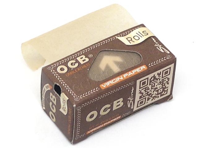 8946 - OCB ROLLS VIRGIN PAPER SLIM UNBLEACHED