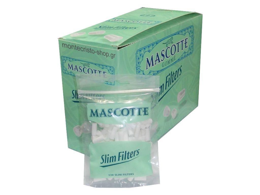 Οικονομική συσκευασία με 20 φιλτράκια MASCOTTE slim filters 6 mm