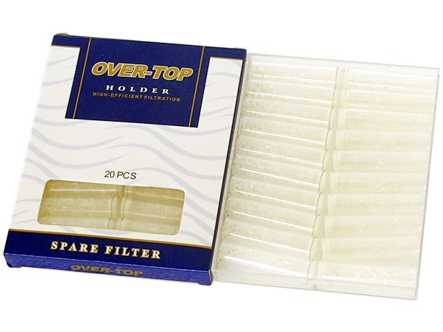 OVER TOP SPARE FILTERS 0-28 Holder 8mm (κρυσταλλικά ανταλλακτικά φίλτρα πίπας τσιγάρου)