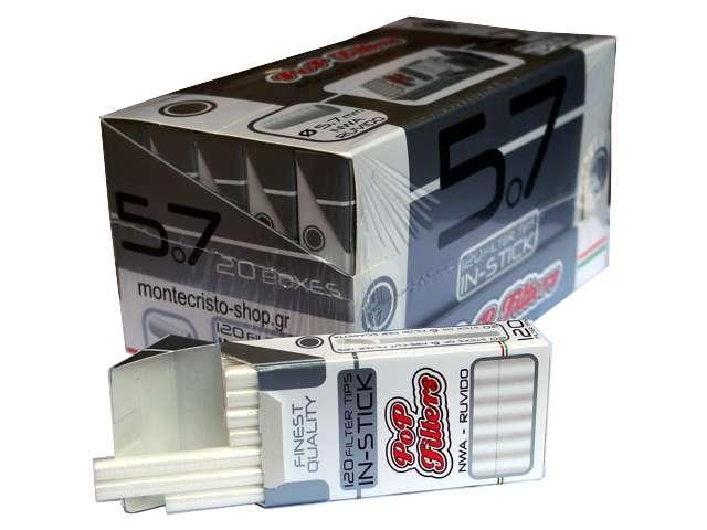Φίλτρα στριφτού PoP Filters in Stick 5.7mm (κουτί των 20)