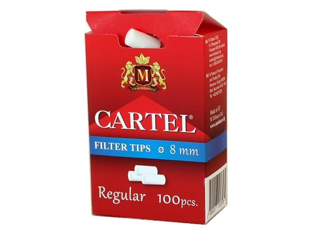 Φιλτράκια Cartel Regular 8mm με 100 φίλτρα το πακετάκι NEW