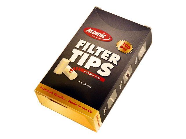 3739 - Φιλτράκια για στριφτό Atomic Filter Tips 8mm 100 με κόλλα για κανονικό τσιγάρο