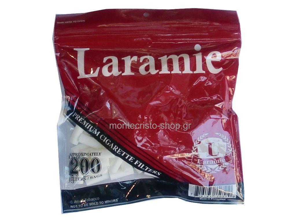Φιλτράκια LARAMIE 8mm χοντρά και μακρυά 200 τεμάχια