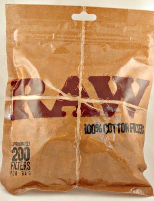 1153 - Φιλτράκια RAW 100% Βαμβάκι, 8mm, 200 φιλτράκια