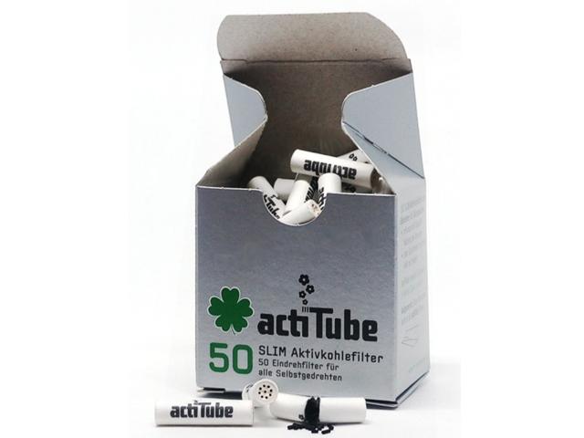 8301 - Φιλτράκια στριφτού actiTube Slim 50 ενεργού άνθρακα 7mm