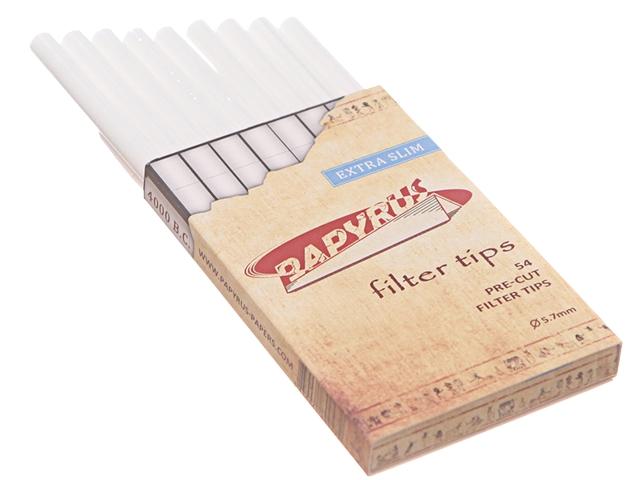 3546 - Φιλτράκια στριφτού PAPYRUS EXTRA SLIM 5.7mm 54