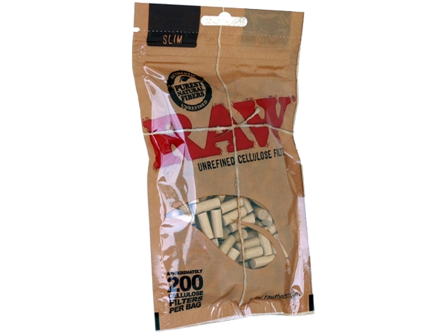5084 - Φιλτράκια στριφτού RAW 200 BAG SLIM UNREFINED CELLULOSE (ακατέργαστα)