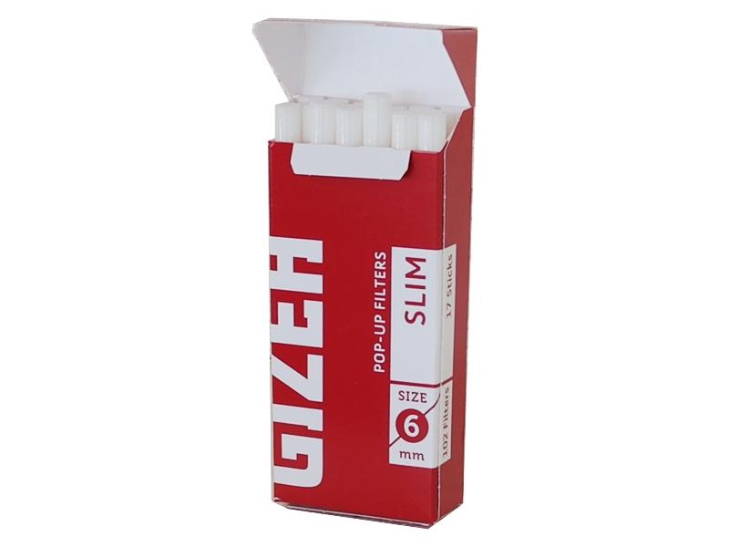 4417 - Φιλτράκια στριφτού Slim Pop Up Filters Slim 6mm
