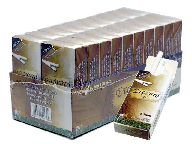 10375 - Φιλτράκια στριφτού ΣΤΡΙΦΤΟ 1916 EXTRA SLIM 5.7mm 120 (σε μπάρες) κουτί των 20