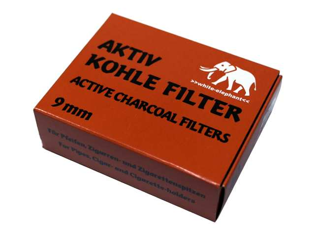 Φίλτρο Πίπας White Elephant 9mm active kohle filter 40 ενεργού άνθρακα ΦΙΛΤΡΑ ΠΙΠΑΣ ΚΑΠΝΟΥ