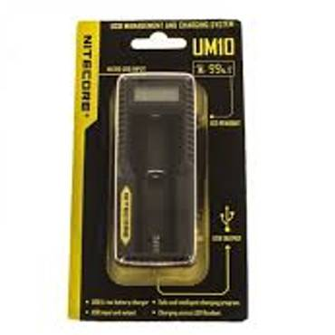 6121 - Φορτιστής Nitecore Intellicharger UM10 LCD Li-on Battery Charger