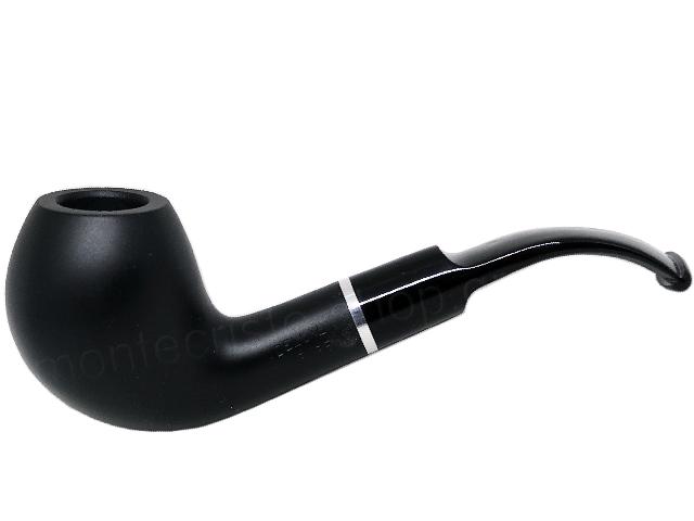7354 - Πίπα DE LUXE MAT RING 46 BLACK 9mm πίπα καπνού κυρτή
