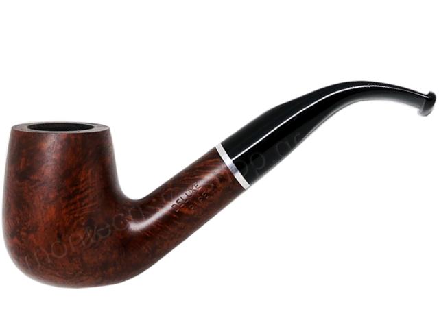 7355 - Πίπα DE LUXE MAT RING K17 BROWN 9mm πίπα καπνού κυρτή