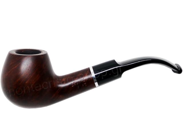 7357 - Πίπα DE LUXE MAT RING K30 BROWN 9mm πίπα καπνού κυρτή