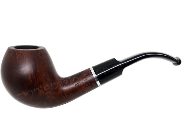 7350 - Πίπα DE LUXE MAT RING K46 BROWN 9mm πίπα καπνού κυρτή