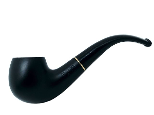 7012 - Πίπα DE LUXE MIGNON BLACK MAT 3 MINI 9mm πίπα καπνού κυρτή