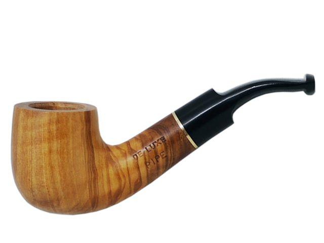 7017 - Πίπα DE LUXE MIGNON OLIVO 1 MINI 9mm πίπα καπνού κυρτή