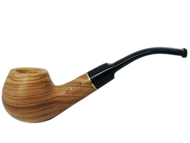 7018 - Πίπα DE LUXE MIGNON OLIVO 2 MINI 9mm πίπα καπνού κυρτή